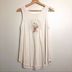 Old Navy Cultivate Kindness Flowy Highneck Tank